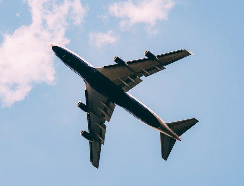 ground shot of an air plane